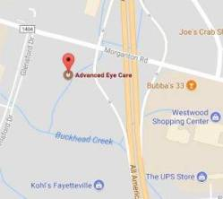 Fayetteville Vision Center Map